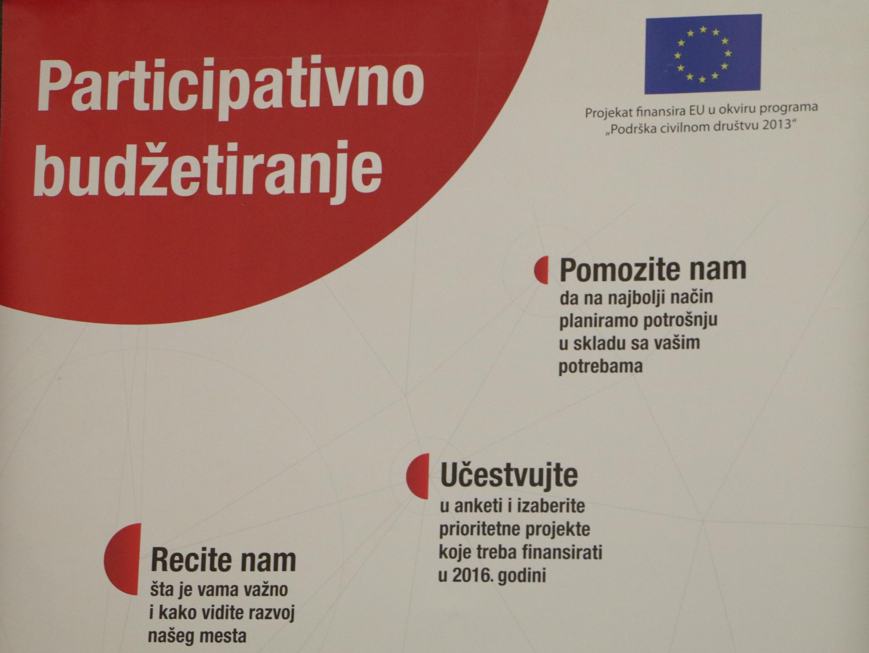 BIRN Srbija Participativno budzetiranje